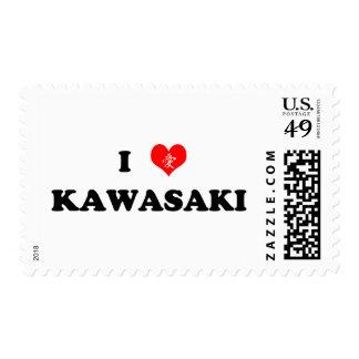 I Heart Kawasaki Postage Stamp