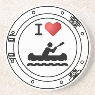 I Heart Kayaking Coasters