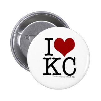 I HEART KC PINBACK BUTTON