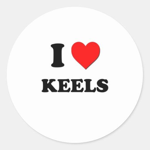 I Heart Keels Round Sticker