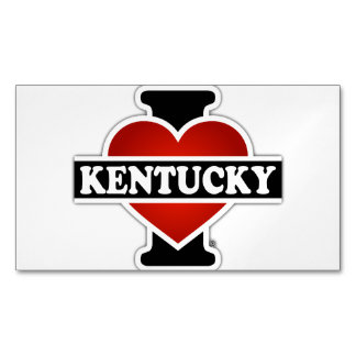 I Heart Kentucky Magnetic Business Card