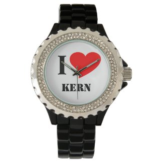 I heart kern wrist watch