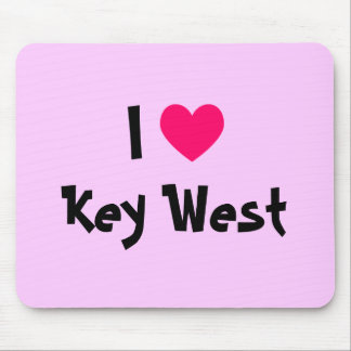 I Heart Key West Florida Mouse Pad