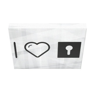 I Heart Keyholes Canvas Print