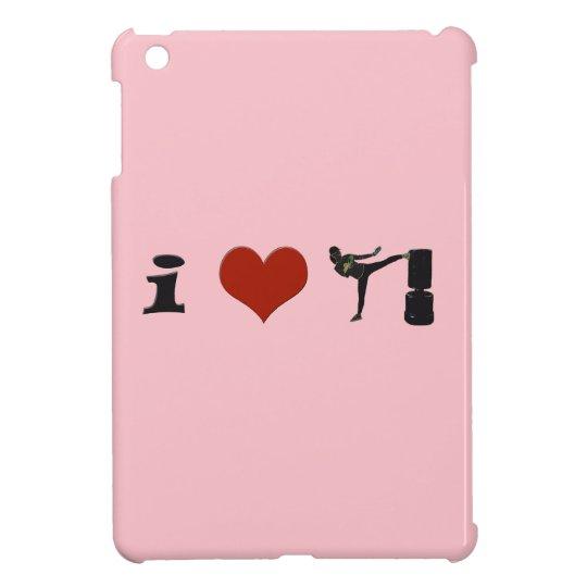 I Heart Kickboxing! Personalize it! iPad Mini Cover