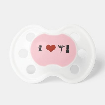 I Heart Kickboxing! Personalize it! Pacifiers