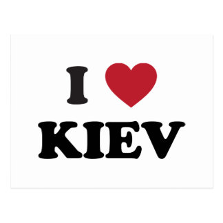 I Heart Kiev Ukraine Postcard