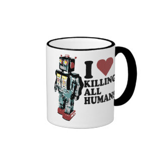 I Heart Killing All Humans Ringer Coffee Mug