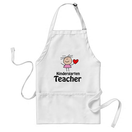 I Heart Kindergarten Teacher Adult Apron