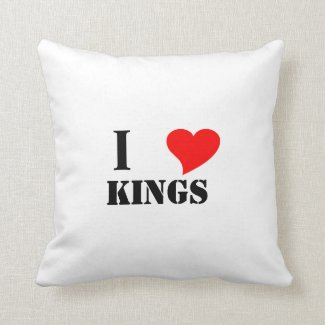 I heart kings throw pillow