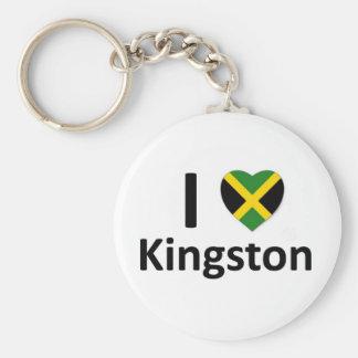 I heart Kingston (Jamaica) Basic Round Button Keychain