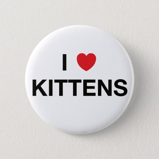 I HEART KITTENS badge Pinback Button