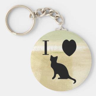 I Heart Kitties Keychain