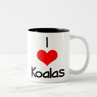 i-heart-koalas Two-Tone coffee mug