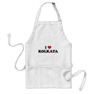 I Heart Kolkata India Adult Apron