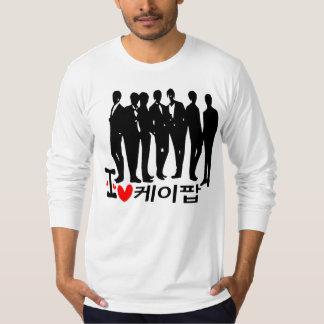 I Heart KPOP in Korean  American Apparel Long Slee T-Shirt