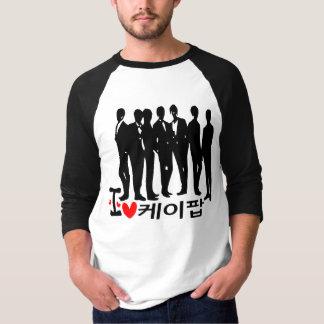 I Heart KPOP in Korean  Basic 3/4 Sleeve Raglan T-Shirt