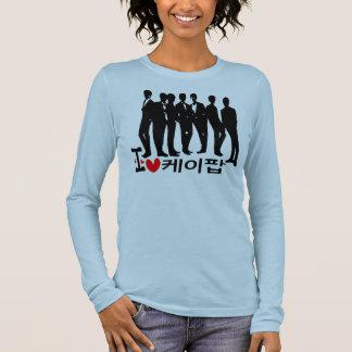 I Heart KPOP in Korean Ladies Long Sleeve (Fitted) Long Sleeve T-Shirt