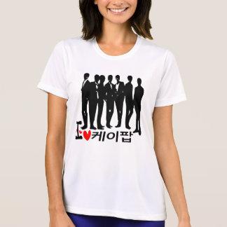 I Heart KPOP in Korean Ladies Performance Micro-Fi T-Shirt