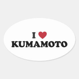 I Heart Kumamoto Japan Sticker