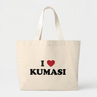 I Heart Kumasi Ghana Large Tote Bag