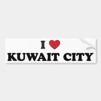 i Heart Kuwait City Kuwait Car Bumper Sticker