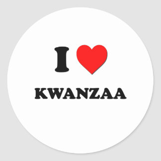 I Heart Kwanzaa Classic Round Sticker