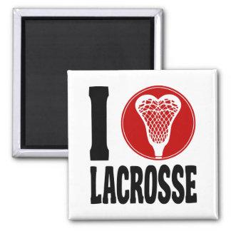 I Heart Lacrosse Magnet