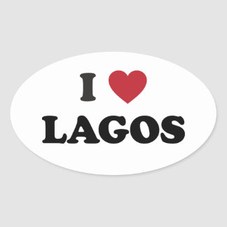 I Heart Lagos Nigeria Sticker