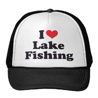 I Heart Lake Fishing Trucker Hat