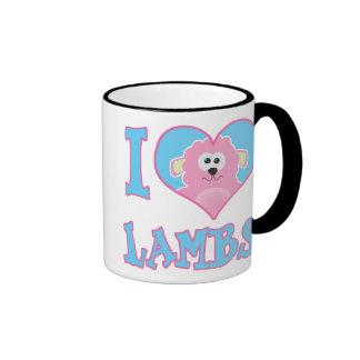 i heart lambs ringer coffee mug