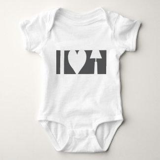i heart lamp - figure ground infant creeper