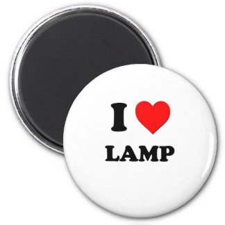 I Heart Lamp 2 Inch Round Magnet