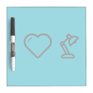 I Heart Lamps Dry Erase Whiteboard