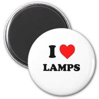 I Heart Lamps 2 Inch Round Magnet