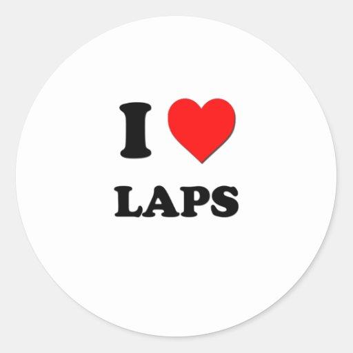 I Heart Laps Sticker