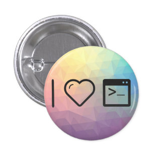 I Heart Large Consoles 1 Inch Round Button