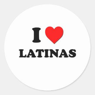 I Heart Latinas Classic Round Sticker