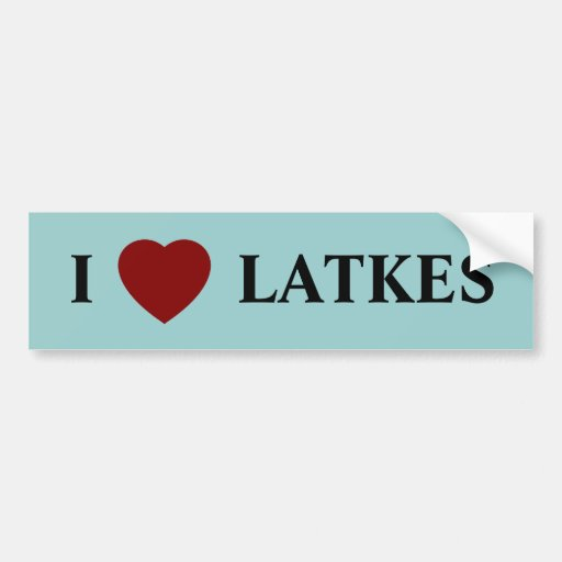 "I ""heart"" LATKES Bumper Sticker"