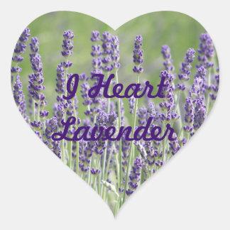 I Heart Lavender Flowers Heart Sticker