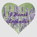 I Heart Lavender Flowers Stickers