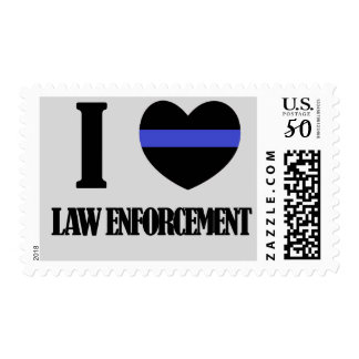 'I Heart Law Enforcement' Stamp
