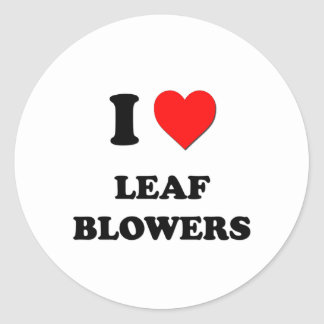 I Heart Leaf Blowers Classic Round Sticker