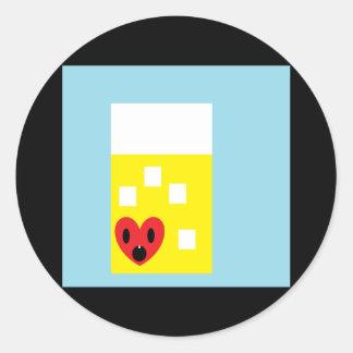 I heart Lemonade Classic Round Sticker