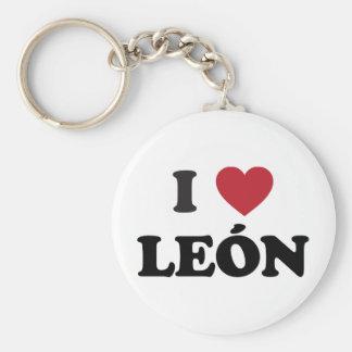 I Heart león mexico Keychain