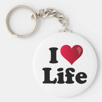 I Heart Life Basic Round Button Keychain