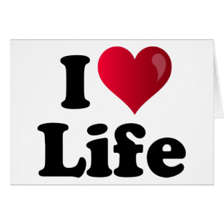 I Heart Life Card