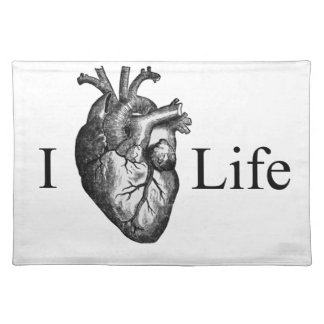 I Heart Life Cloth Placemat