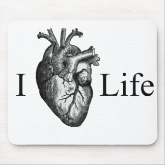I Heart Life Mouse Pad