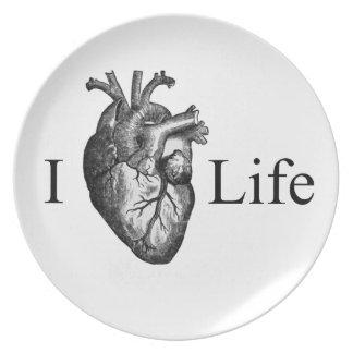 I Heart Life Dinner Plates